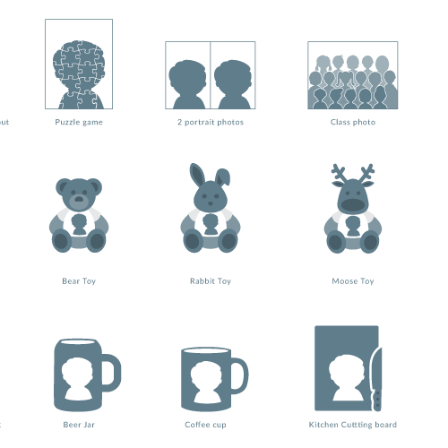 Icons for photo website