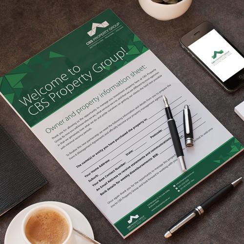 Information Sheet Design For Real Estate Company