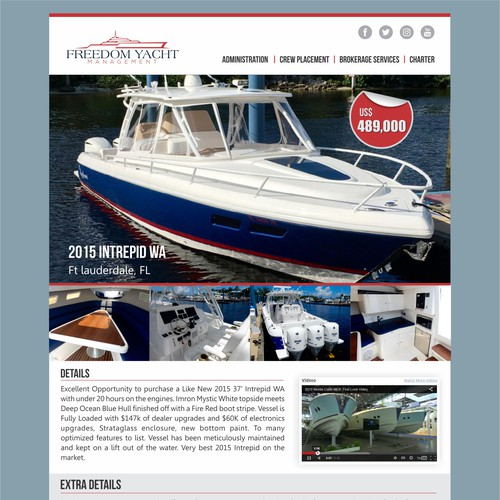 Design the Most Cutting Edge Yacht Sales Newsletter Template