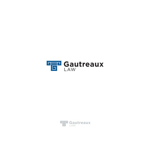 Logo concept for Gautreaux Law.