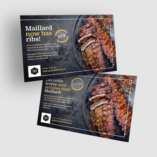 Postcard Concept For Online Butcher Shop