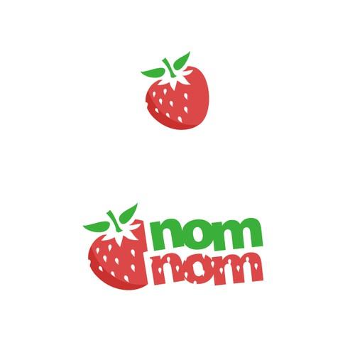 Strawberry Logo design for Health & Fitness App!