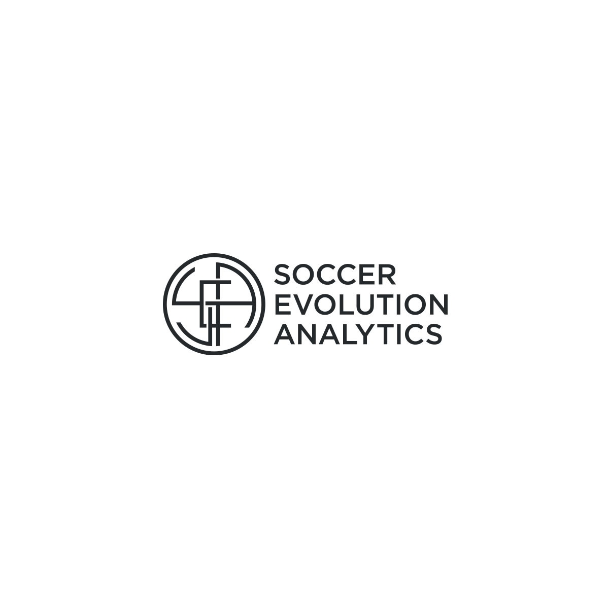 Design a modern logo for a data and analytics driven soccer training company.