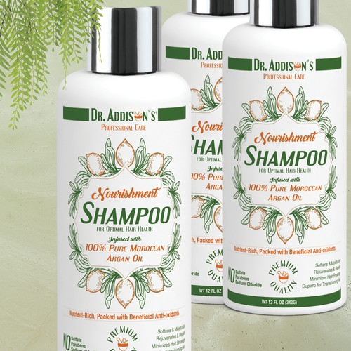 Design an awesome shampoo label (front label only)