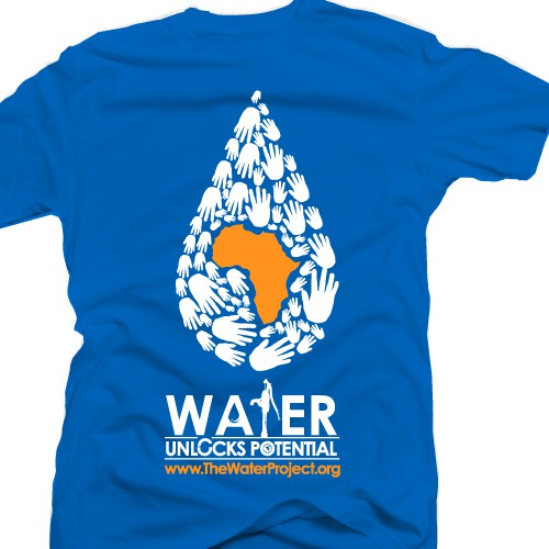 T-shirt design for The Water Project