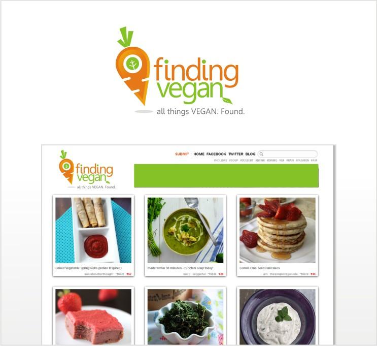 Create the next logo for Finding Vegan
