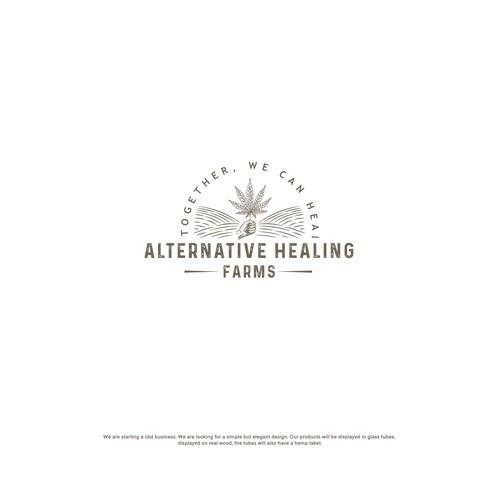 Alternative Healing Farm logo design