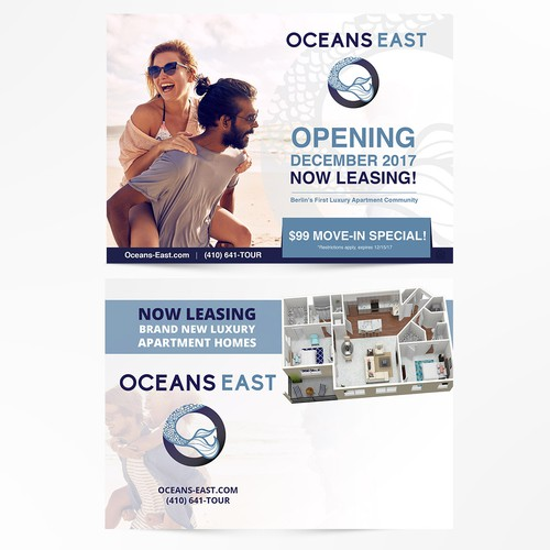 Postcard design for Ocean East