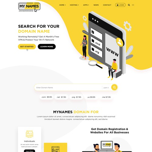 Domain Registration Services WordPress Theme website