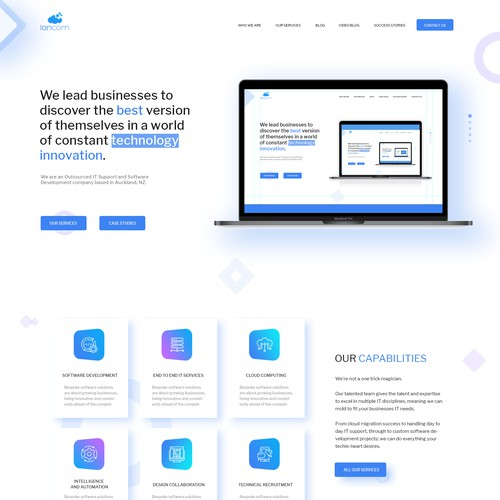 Home Page Concept for Lancom Technology