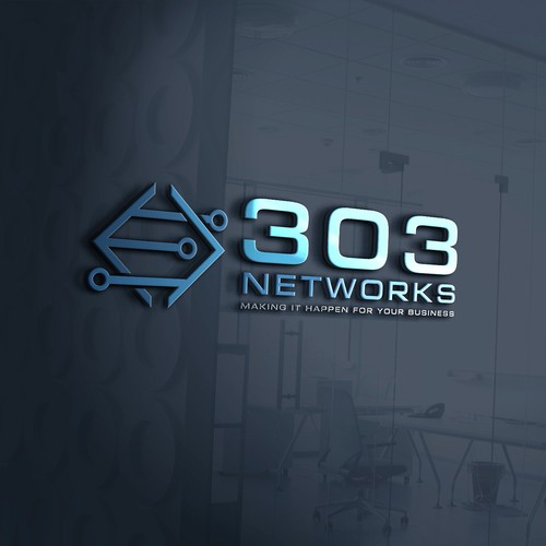 303 Networks Company logo concept