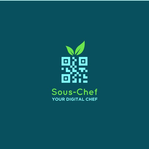 QR code logo for a digital chef