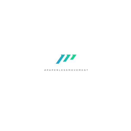 Modern logo for Paperless Movement