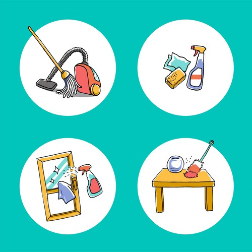 Cleaning services illustration
