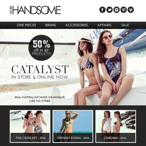 Luxury fashion brands' email newsletter design.