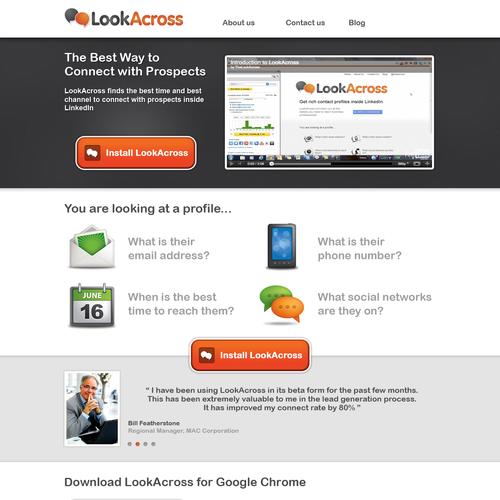 website design for LookAcross