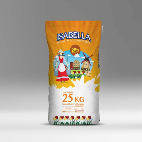 Packaging Isabella Milk