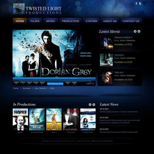 Hollywood Film Production Company website