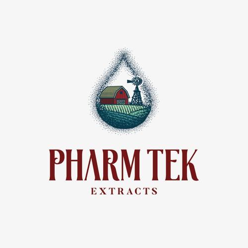 Hand-drawn logo design for e-liquid brand
