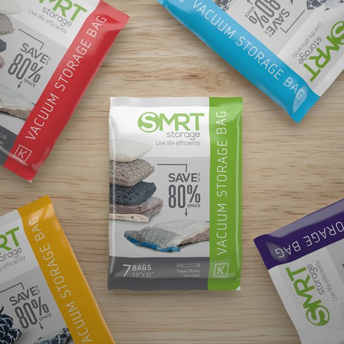 Packaging design for Smartstore's Vacuum Bag