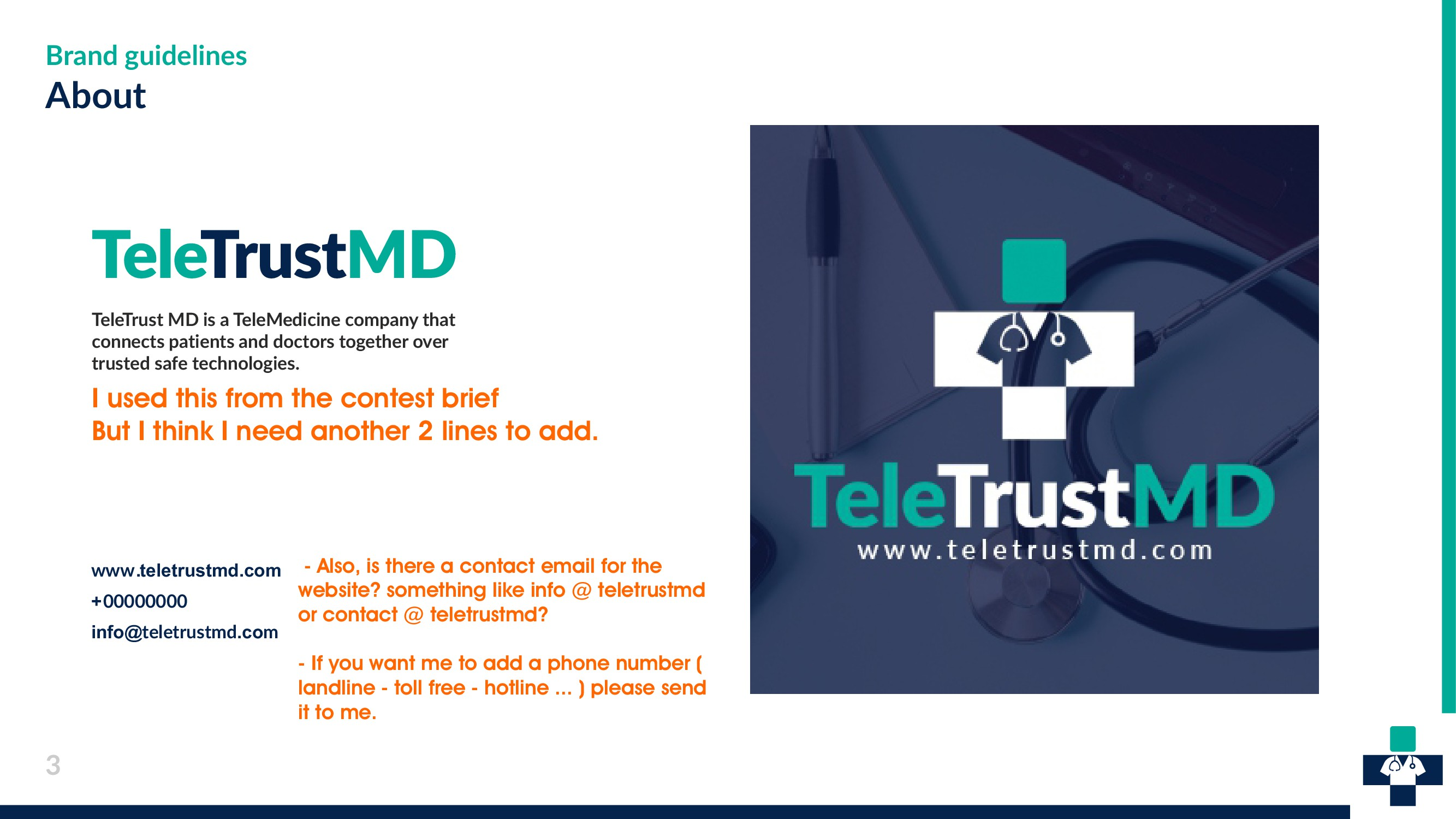 TeleTrustMD needs you to Help us Launch our new brand!