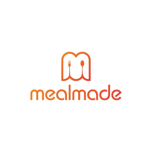 Design a simple, elegant, suggestive logo for food delivery service Mealmade!