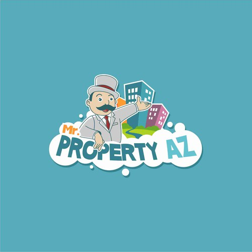 Fun logo character for Property Company