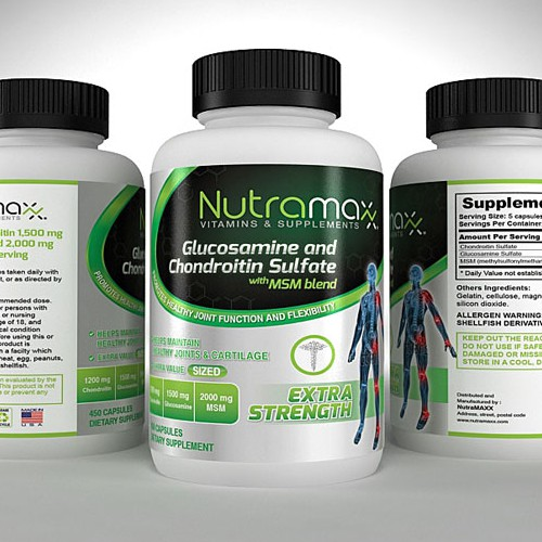 Product label for Nutramaxx