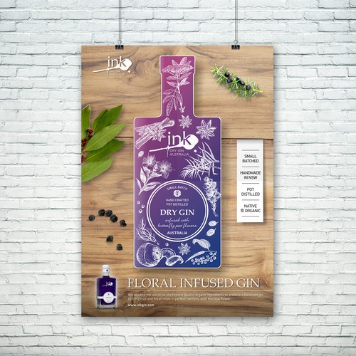 Poster design for GIN company.