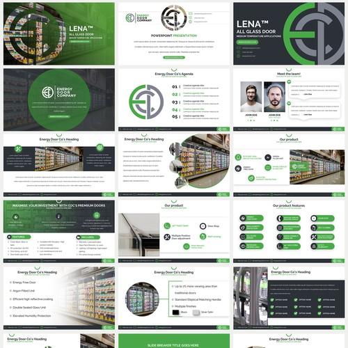 Energy Door Company PowerPoint Template