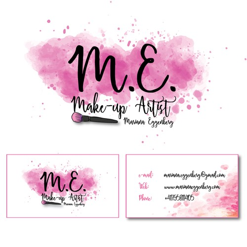 Logo and Business Card for a Make up Artist