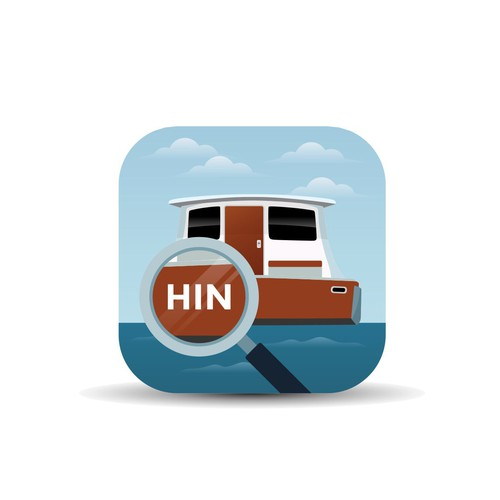Clean and Unique App Icon for HIN Search App
