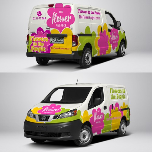 Van wrap design for florist fleet