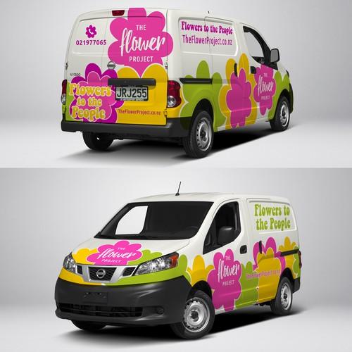 Van wrap design for florist fleet