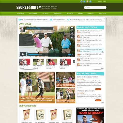 Secret in the Dirt needs a new website design