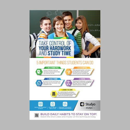 Design a tips and tricks poster for Studyo users