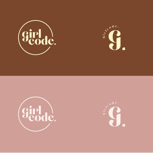 girlcode. logo design