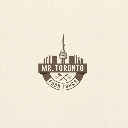 Hip Toronto food tour company a stunning logo!
