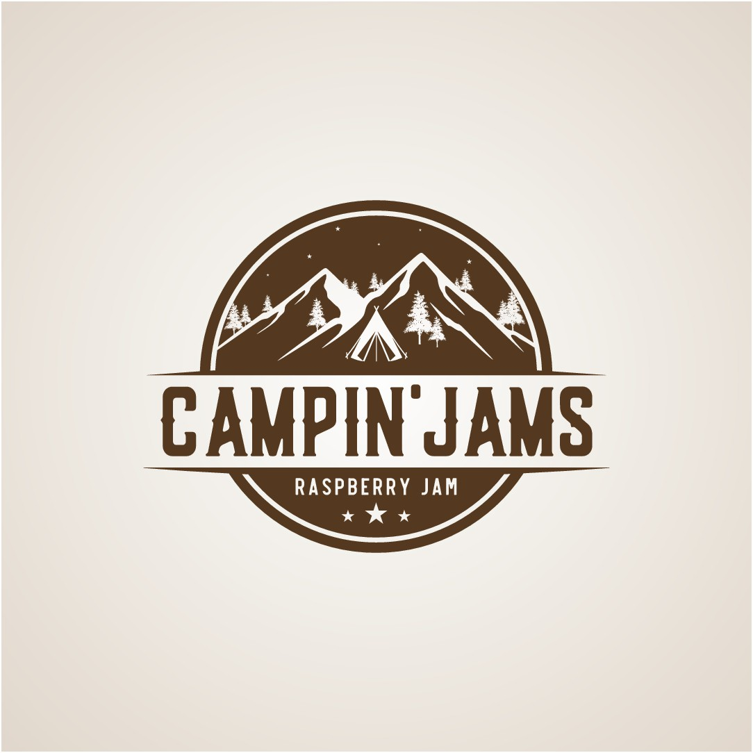 Create a logo for an awesome new line of jams for the outdoor enthusiast!