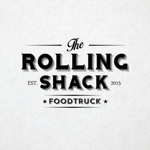Vintage logo for Rolling Shack