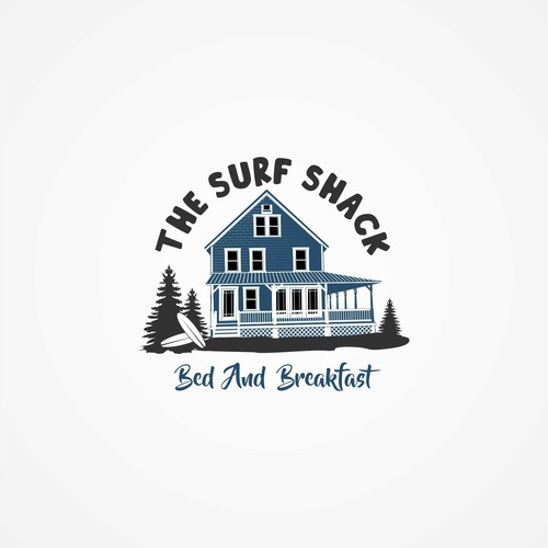 Logo for surf influenced bed and breakfast