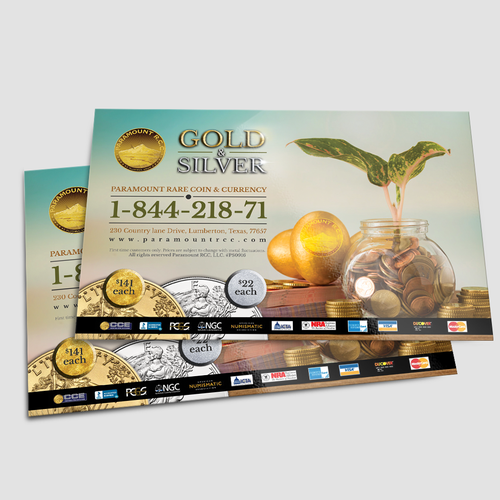 Nationwide Print Ad /Half page Gold and silver coins