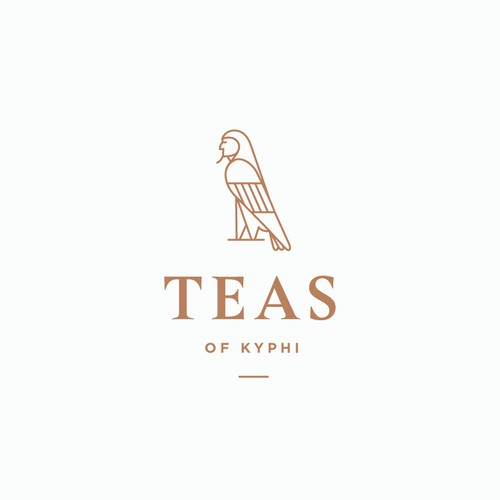 Logo concept for a high-end tea company