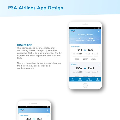 Mobile app for PSA Airlines