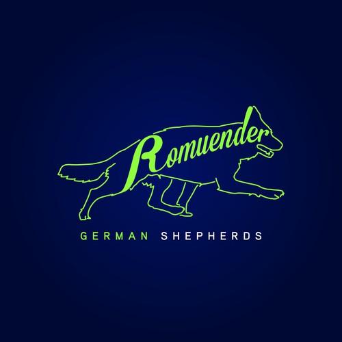 Logo for Romuender German Shepherds