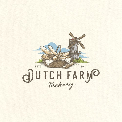 Vintage Logo for Dutch Farm Bakery