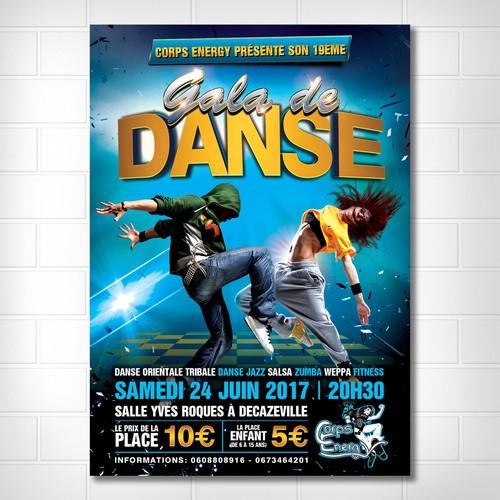 Gala de Danse poster design