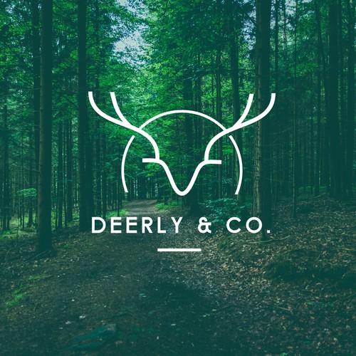Line art Deer design