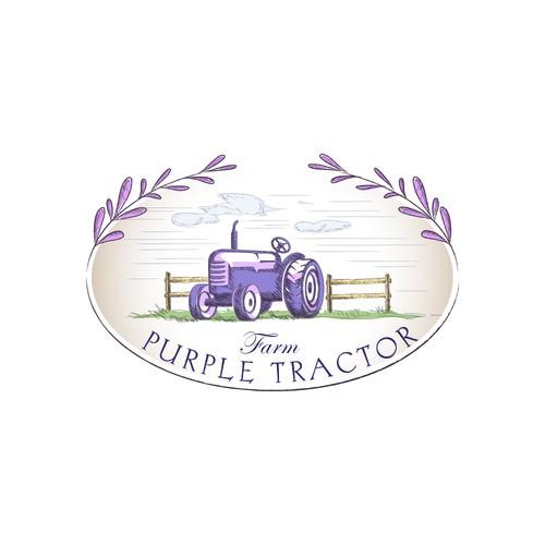 purple tractor