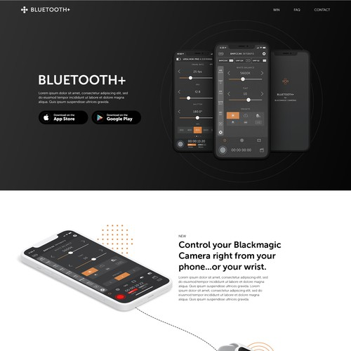 Catching One-pager Web Site Design for existing iPhone/Android app